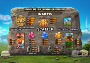 Jackpot Giant Gewinne
